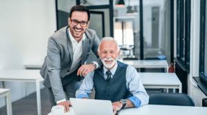 Familienunternehmen Vater und Sohn