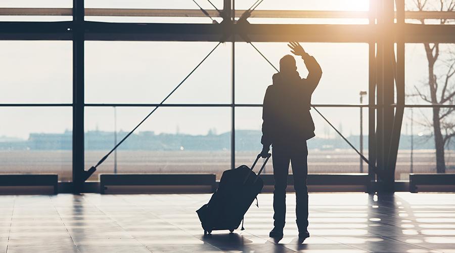 Mann reist