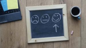 Tafel mit Smileys
